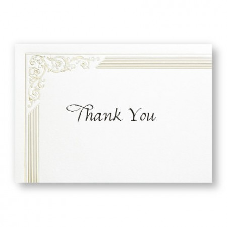 Bridal Elegance Thank You Cards