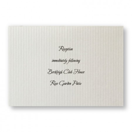 Sophisticated Stripes Reception Cards - LIMITED STOCK ON HAND