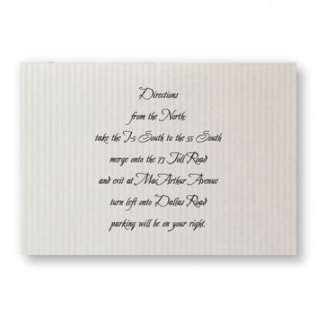 Sophisticated Stripes Direction Cards - LIMITED STOCK ON HAND