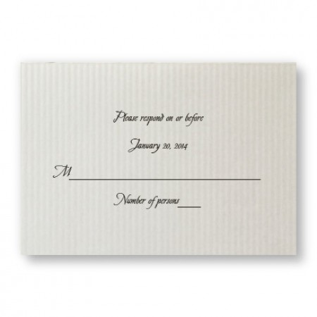 Sophisticated Stripes Respond Cards - LIMITED STOCK ON HAND