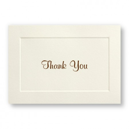 Classic Embossed Border Thank You Cards