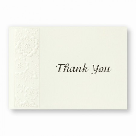Chantilly Thank You Cards - LIMITED STOCK ON HAND