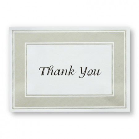 Etched Pearl Frame Thank You Cards - LIMITED STOCK ON HAND