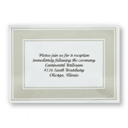 Etched Pearl Frame Reception Cards - LIMITED STOCK ON HAND