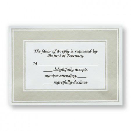 Etched Pearl Frame Respond Cards - LIMITED STOCK ON HAND