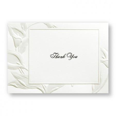 Iridescent Lilies Thank You Cards