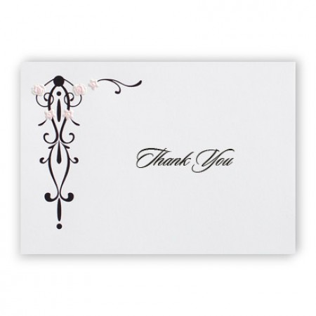 Petal Pink Thank You Cards