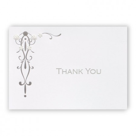 Floral Medallion Thank You Cards