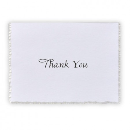 Feather Deckle Thank You Cards