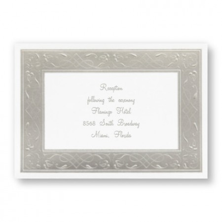 Precious Platinum Reception Cards - LIMITED STOCK ON HAND
