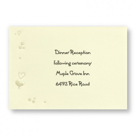 Heart in the Window Reception Cards - LIMITED STOCK ON HAND