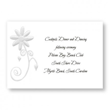 Enchanted Daisy Reception Cards - LIMITED STOCK ON HAND