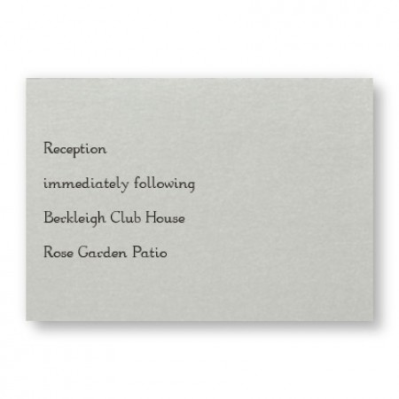 Shimmer Chic Reception Cards - LIMITED STOCK ON HAND