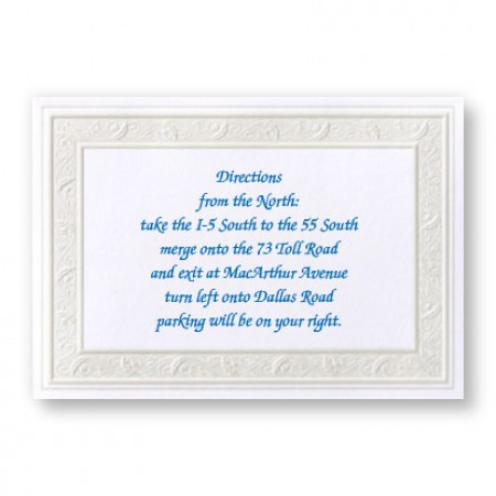 Framed in Elegance Direction Cards - LIMITED STOCK ON HAND