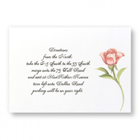 Floral Wreath Direction Cards - LIMITED STOCK ON HAND