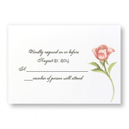 Floral Wreath Respond Cards - LIMITED STOCK ON HAND