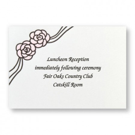 Rosette Reception Cards - LIMITED STOCK ON HAND
