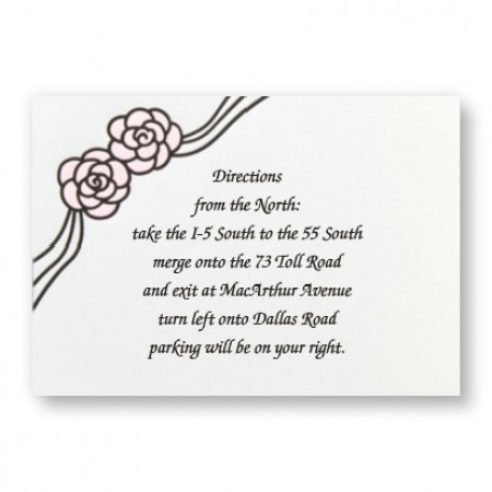 Rosette Direction Cards - LIMITED STOCK ON HAND