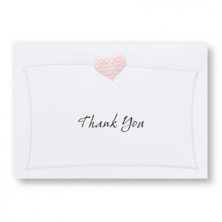 Romantic Hearts Thank You Cards - LIMITED STOCK ON HAND