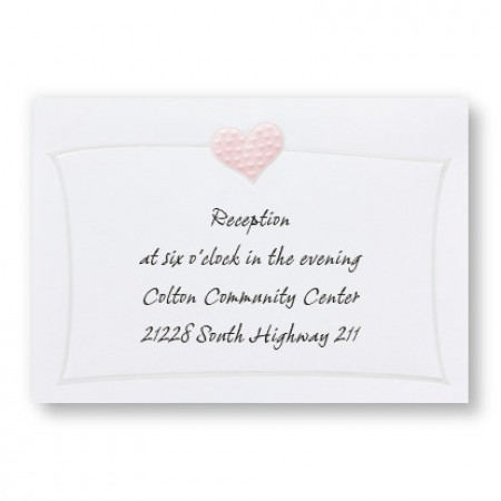 Romantic Hearts Reception Cards - LIMITED STOCK ON HAND