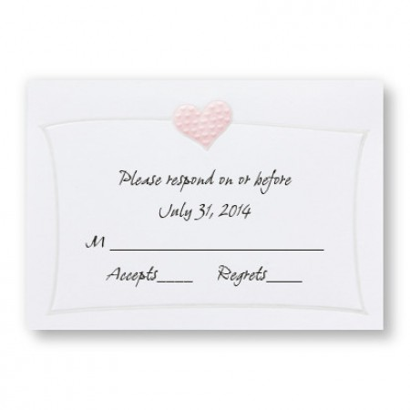 Romantic Hearts Respond Cards - LIMITED STOCK ON HAND
