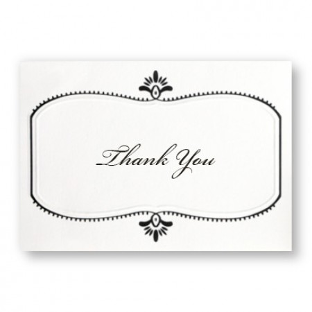 Stylish Frame Thank You Cards