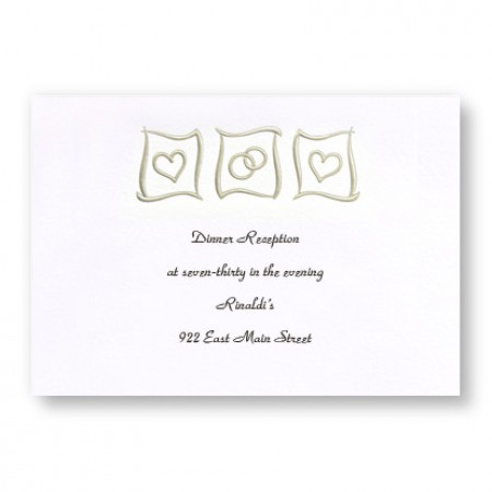 Eternal Love Reception Cards - LIMITED STOCK ON HAND
