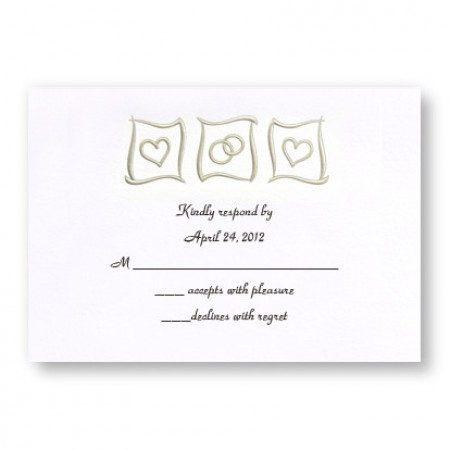 Eternal Love Respond Cards -  LIMITED STOCK ON HAND