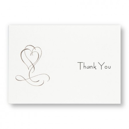 Fanciful Hearts Thank You Cards