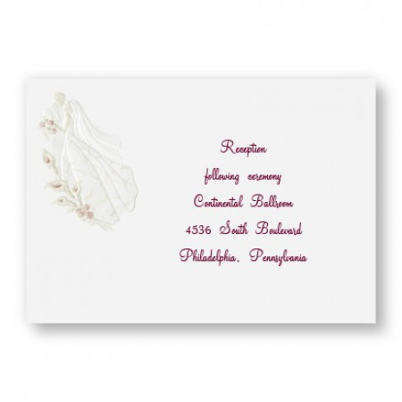 Magnificent Romance Reception Cards - LIMITED STOCK ON HAND