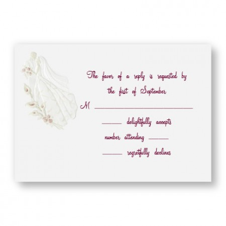 Magnificent Romance Respond Cards - LIMITED STOCK ON HAND