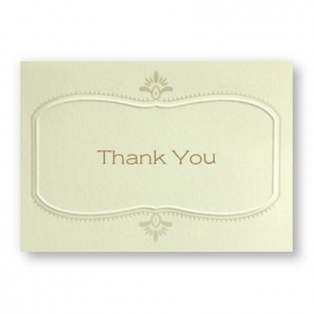 Bali Frame Thank You Cards