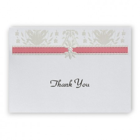 Pineapple Pattern Thank You Cards