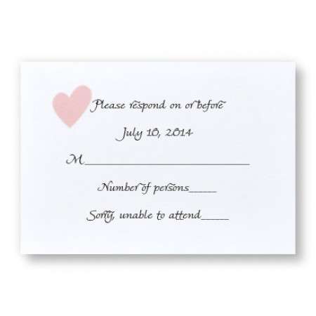 Delightful Love Respond Cards - LIMITED STOCK ON HAND