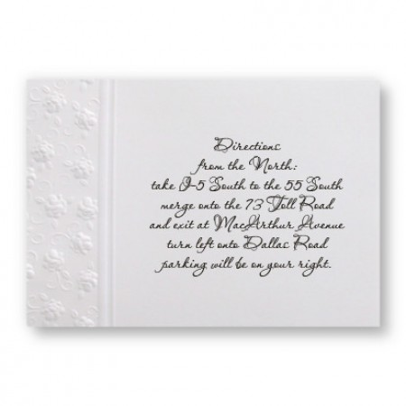 Floral Applique Direction Cards - LIMITED STOCK ON HAND