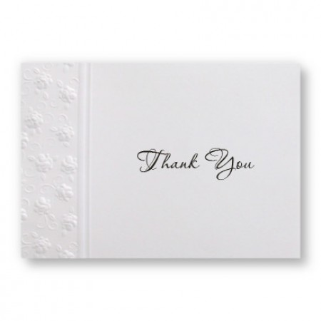Floral Applique Thank You Cards - LIMITED STOCK ON HAND