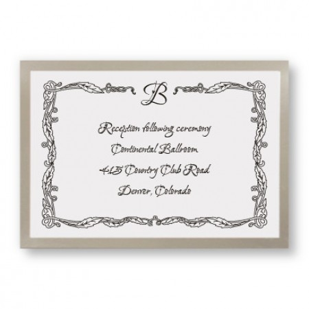 Initial Accent Reception Cards - LIMITED STOCK ON HAND