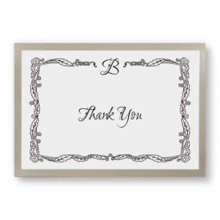Initial Accent Thank You Cards - LIMITED STOCK ON HAND