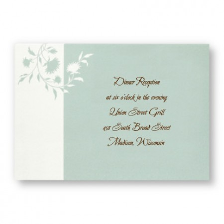 Color Blossom Reception Cards - LIMITED STOCK ON HAND