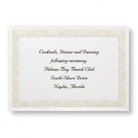 Regal Fern Reception Cards - LIMITED STOCK ON HAND