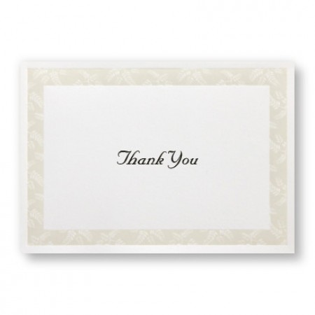 Regal Fern Thank You Cards - LIMITED STOCK ON HAND