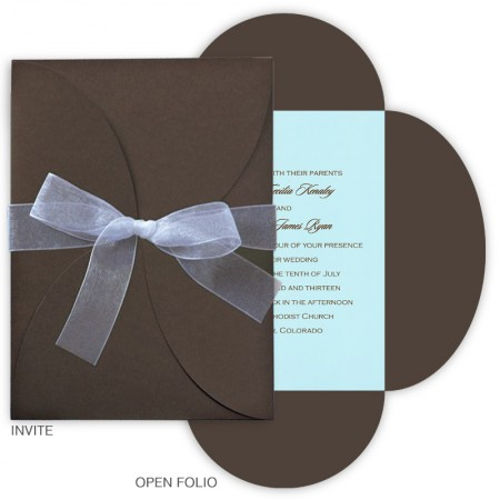 Vertical Blossom Invitations
