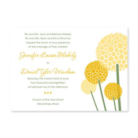 Allium Floral Wedding Invitations