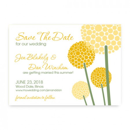 Allium Save the Date Cards