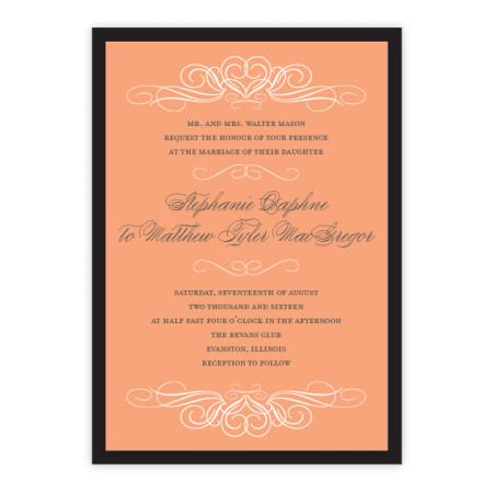 Amelia Hearts Wedding Invitations