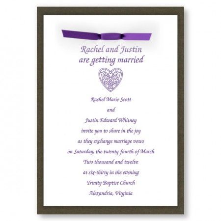 Amore Heart Wedding Invitations