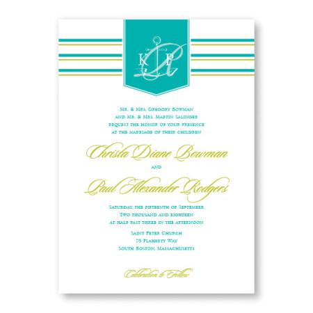 Anchor Beach Wedding Invitations