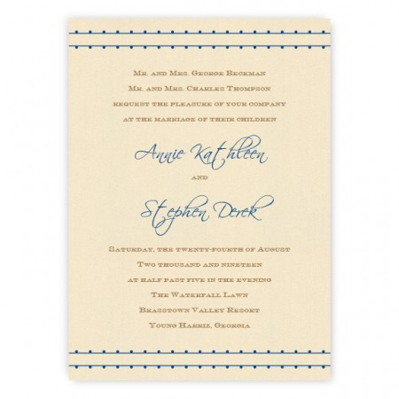 Annie Thermography Wedding Invitations