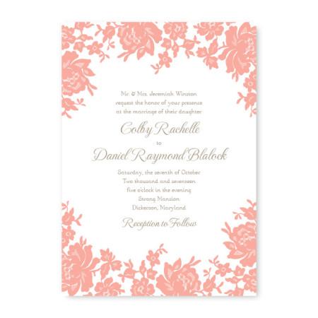 Antique Lace Vintage Wedding Invitations