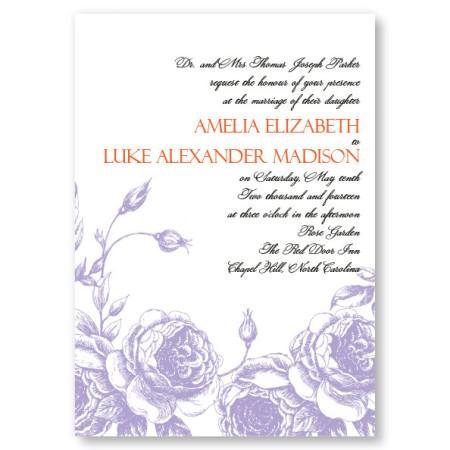 Antique Roses Wedding Invitations